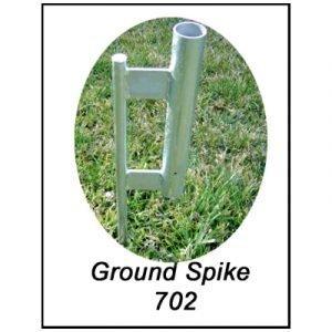 Ground Spike w Receiver Sleeve