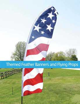 Themed Feather Banners and Flying Props