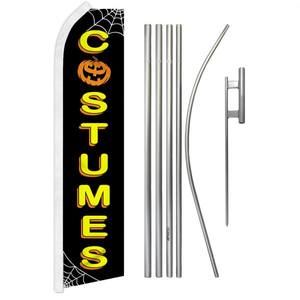 Halloween Costumes Feather Banner Package