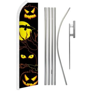 Halloween Eyes Feather Banner Package