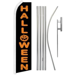 Halloween Text Feather Banner Package