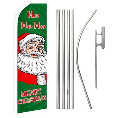 Merry Christmas Feather Banner Package