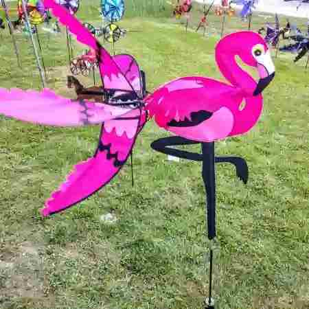 21 IN PINK FLAMINGO SPINNER