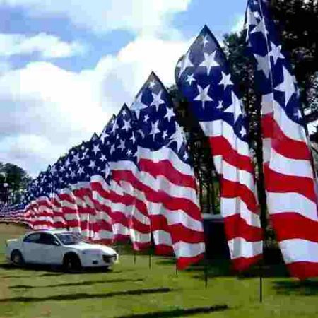 USA Star Spangled Feather Banner